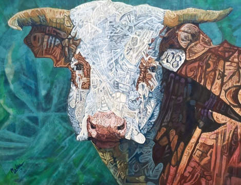 Green River Cow- Acrylic on Canvas 30 x 40